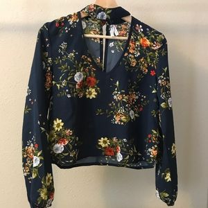 Live 4 Truth open collar navy/floral shirt